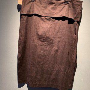 DKNY  Black Skirt with Slits on both Sides.